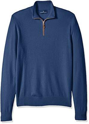 Buttoned Down Men's 100% Premium Cashmere Quarter-Zip Sweater