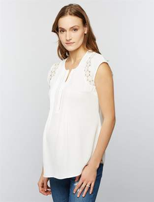 Daniel Rainn Lace Maternity Blouse