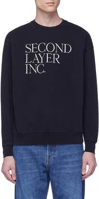 Second/Layer Logo embroidered sweatshirt