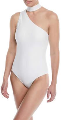 Zimmermann Jaya Tie-Neck One-Piece Swimsuit