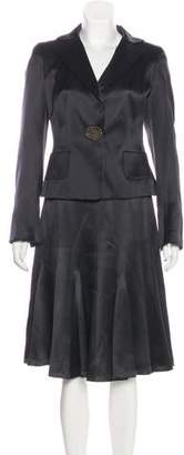 Akris Silk Skirt Suit