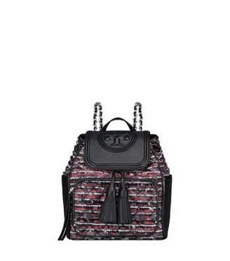 Tory Burch Fleming Tweed Backpack Bag