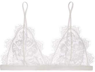 Anine Bing Stretch-lace Soft-cup Triangle Bra - White