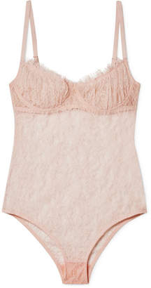 Brock Collection Bia Lace Bodysuit - Neutral