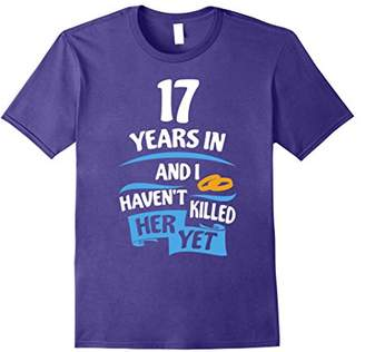 17th Wedding Anniversary Gift for Husband 17 Years Shirt