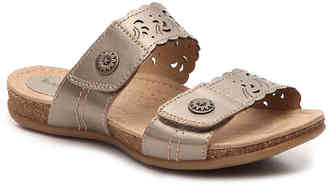 Women's Terry Slide Sandal -Cognac $90 thestylecure.com