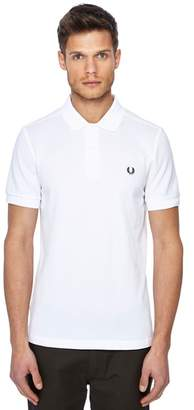 Fred Perry White Embroidered Logo Polo Shirt