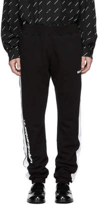 MSGM Black and White Track Pants