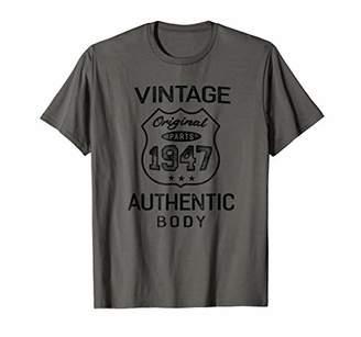 Vintage 1947 Shirt Men Birthday Gift T-shirt