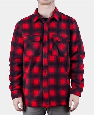 Rip Curl Men Porter Anti-Series Regular-Fit Fleece-Lined Plaid Flannel Shirt