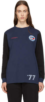 Marcelo Burlon County of Milan Blue Toronto Blue Jays Edition Long Sleeve T-Shirt