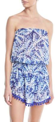 Ramy Brook Marcie Printed Strapless Coverup Dress