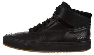 Common Projects Round-Toe High-Top Sneakers black Round-Toe High-Top Sneakers