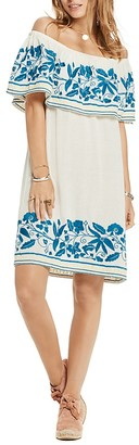 Scotch & Soda Embroidered Off-the-Shoulder Shift Dress $179 thestylecure.com