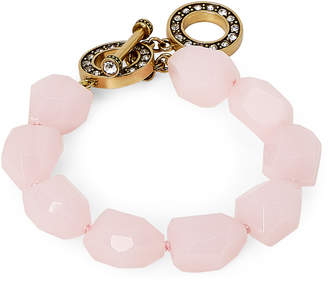 Heidi Daus Big Pretty Quartz Rock Toggle Bracelet