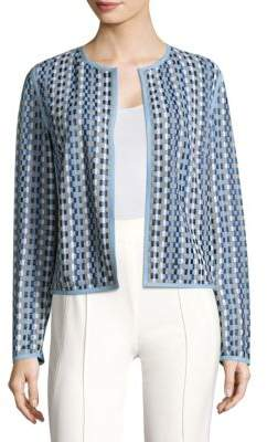 Escada Lattice-Weave Leather and Suede Jacket