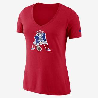 Nike Historic Tri-Blend Mid-V (NFL Patriots) Women's T-Shirt