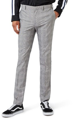 Men's Topman Check Ultra Skinny Fit Suit Trousers $120 thestylecure.com