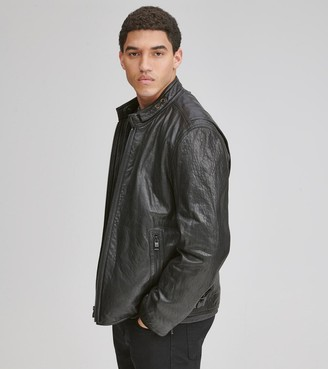 Andrew Marc CAFE RACER LEATHER MOTO JACKET
