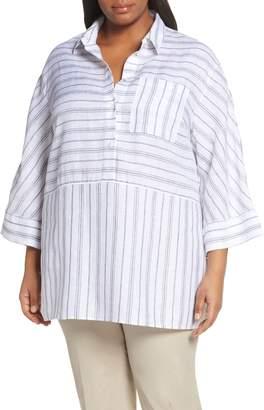 Lafayette 148 New York Malaysia Stripe Tunic Top