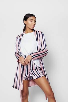 boohoo Pastel Stripe Shorts