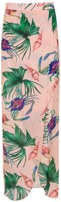 BRIGITTE printed maxi skirt
