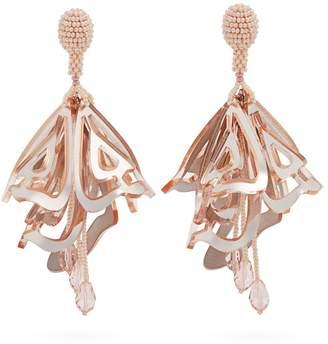 Oscar de la Renta Cayenne large clip-on earrings
