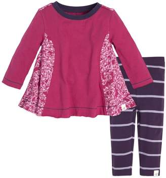 Burt's Bees Baby Baby Girl Baby Organic Butterfly Tunic & Striped Leggings Set