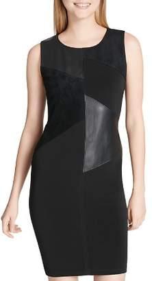 Calvin Klein Mixed Media Patchwork Dress