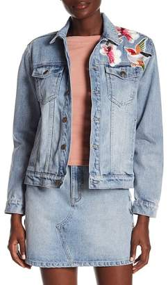 MinkPink Blossom Patch Denim Jacket