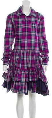 Natasha Zinko Plaid Midi Dress w/ Tags