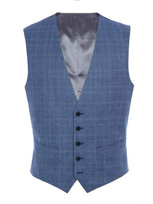 Men's Paul Costelloe Meath Check Wool Slim-Fit Suit Waistcoat