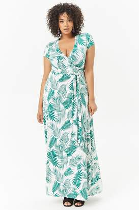 Forever 21 Plus Size Palm Leaf Print Maxi Dress