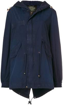 Mr & Mrs Italy drawstring detail parka coat