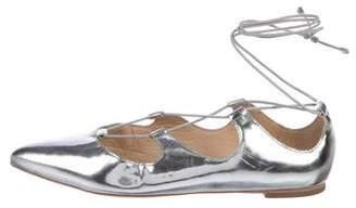 Loeffler Randall Metallic Leather Flats