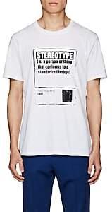 "Maison Margiela Men's ""Stereotype"" Cotton T-Shirt - White"