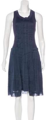 Gunex Pleated Knee-Length Dress
