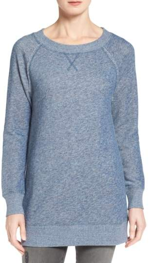 Caslon(R) Space Dye Tunic Sweatshirt