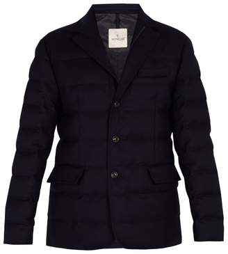 Moncler - Rodin Quilted Down Wool Blazer - Mens - Navy