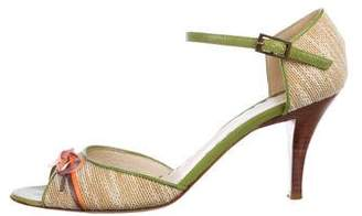 Marc Jacobs Raffia Ankle Strap Sandals