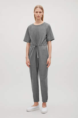 Cos WOOL JUMPSUIT WITH GROSGRAIN DRAWSTRING