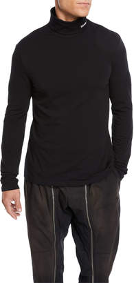 Calvin Klein Men's Stretch-Cotton Jersey Turtleneck Sweater
