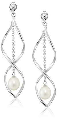 Bella Pearl Dangling Chandelier Pearl Drop Earrings