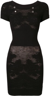 Chanel Pre-Owned sheer knitted dress