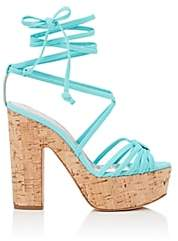 Ballin ALCHIMIA DI Women's Tara Neoprene Ankle-Wrap Platform Sandals - Turquoise
