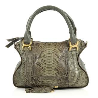 Chloé Marcie python handbag