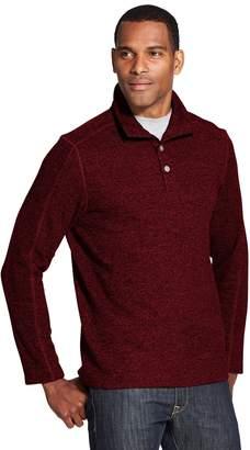 Van Heusen Men's Classic-Fit Flex Button Mockneck Fleece Sweater