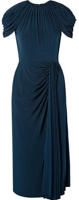 Jason Wu Collection - Draped Jersey Midi Dress - Storm blue