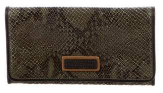 Longchamp Embossed Continental Wallet