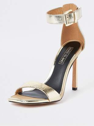 River Island Barely There Heel Sandal - Gold